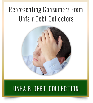 Unfair Debt Collection Button 2